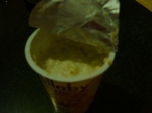 Yogurt con avena