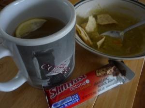 Almuerzo caliente para el frio
