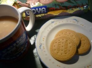 Atole con galletas marias